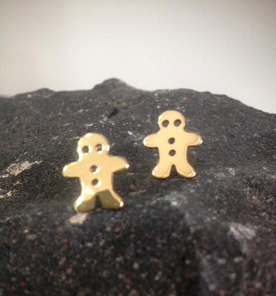 Cookie man earrings
