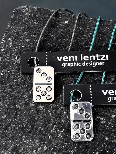 Domino tile pendant