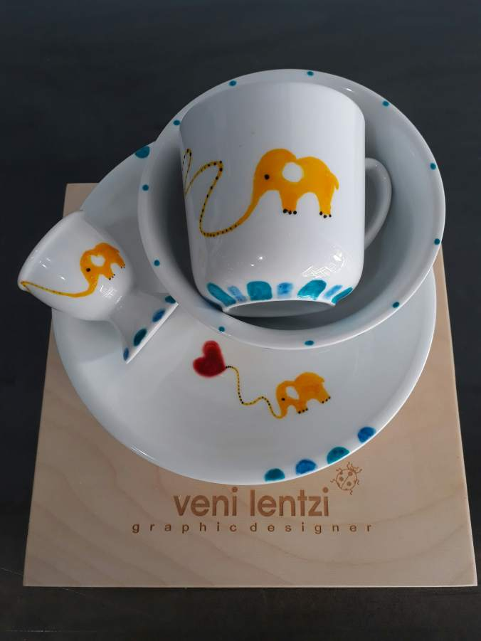 elephant kid food set