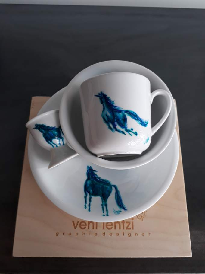 horse kid food set