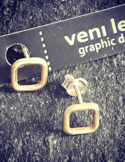 Square Itsy Bitsy Teenie Weenie earrings