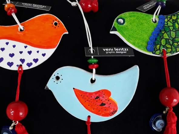 birds christmas deco